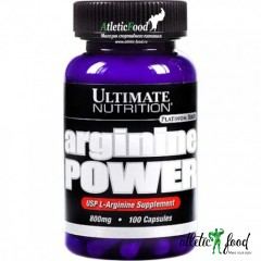 Ultimate Nutrition Arginine Power 800 mg - 100 капсул