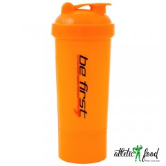 Be First Шейкер спортивный 3-в-1 - 500 мл ( Оранжевый)