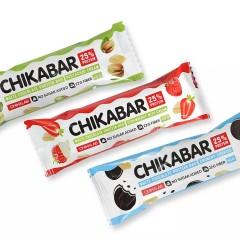 Chikalab Батончик в белом шоколаде с начинкой - 60 грамм