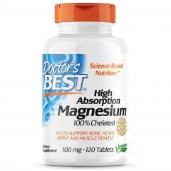 Магний Doctor's Best 100% Chelated Magnesium 100 mg - 120 таблеток