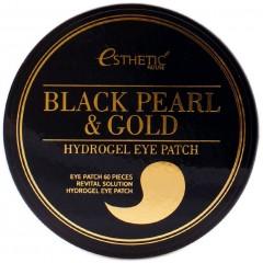 Esthetic House патчи для глаз гидрогель черный жемчуг/золото Black Pearl & Gold Hydrogel Eye Patch - 60 шт.