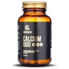 Grassberg Calcium 600 + D3 + Zn with Vit K - 60 таблеток