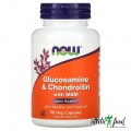 NOW Glucosamine & Chondroitin with MSM - 90 капсул