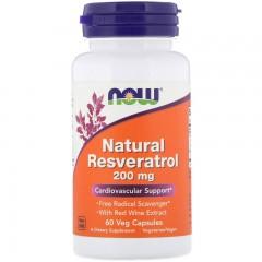 Ресвератрол NOW Natural Resveratrol 200 mg - 60 капсул