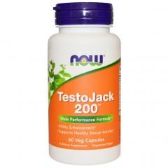 Тестобустер NOW TestoJack 200 - 60 капсул