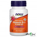 NOW Vitamin D3 5000 IU - 240 гелевых капсул