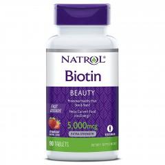 Биотин Natrol Biotin 5000 mcg Fast Dissolve - 90 таблеток