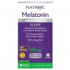 Natrol Melatonin Advanced Sleep Time Release 10 mg - 100 таблеток