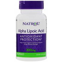 Альфа-липоевая кислота Natrol Alpha Lipoic Acid 300 мг - 50 капсул
