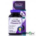 Natrol Fish Oil & Vitamin D3 - 90 капсул