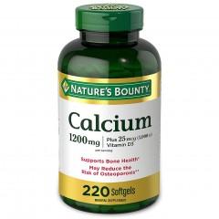 Кальций с витамином Д3 Nature's Bounty Calcium 1200 mg & Vitamin D3 1000 IU - 220 капсул
