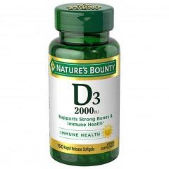 Nature's Bounty Vitamin D3 2000 IU (50 mcg) - 150 капсул