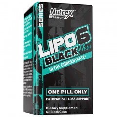 Жиросжигатель для женщин Nutrex Lipo-6 Black Hers Ultra Concentrate - 60 капсул
