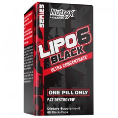 Жиросжигатель Nutrex Lipo-6 Black Ultra Concentrate - 60 капсул