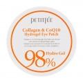 PETITFEE Патчи для глаз гидрогель Коллаген/Коэнзим Q10 - 60 шт.