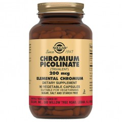 Пиколинат хрома Solgar Chromium Picolinate 200 mcg - 90 капсул