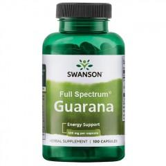 Гуарана Swanson Guarana 500 mg - 100 капсул