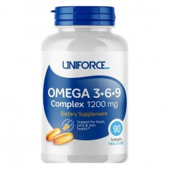 Uniforce Omega 3-6-9 Complex 1200 мг - 90 гелевых капсул