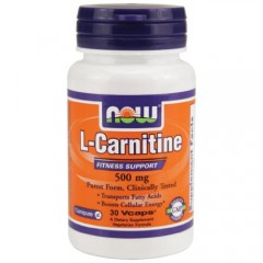NOW L-Carnitine Fitness Support 500mg - 30 капсул