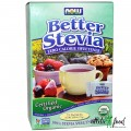 NOW Better Stevia Calcium - 75 пакетиков