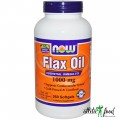 NOW Flax Oil 1000mg - 250 капсул