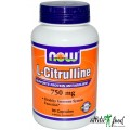 NOW L-Citrulline 750mg - 90 капсул