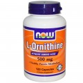 NOW L-Ornithine (500mg)  - 120 капсул (Срок)