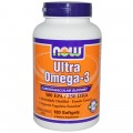 NOW Ultra Omega-3 - 180 капсул