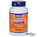 NOW Vitamin A - 250 гелевых капсул