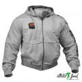 GASP Толстовка с капюшоном Gym Hooded Jacket, Grey
