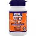 NOW Methyl B-12 (5000mcg) with Folic Acid - 120 капсул