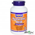 NOW Hyaluronic Acid - 120 капсул