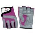 VAMP 755 - Перчатки тряпичные розово-серые.
