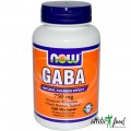 NOW GABA - 100 капсул (750mg)