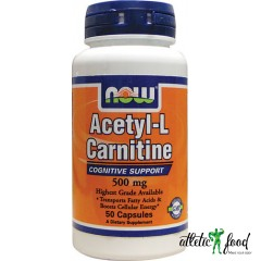 NOW Acetyl-L Carnitine 500 mg - 50 капсул