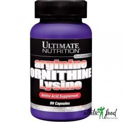 Ultimate Nutrition Arginine Ornithine Lysine - 100 капсул