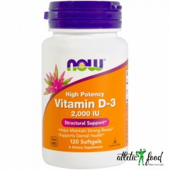 NOW Foods Vitamin D-3 2000 IU 120 Sgels