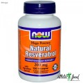 NOW Foods Natural Resveratrol 200 Mg 120 Vcaps