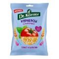 Dr.Korner Чипсы цельнозерновые кукурузно-рисовые с томатом и базиликом - 50 грамм
