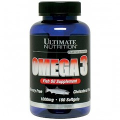 Ultimate Nutrition Omega-3 1000mg - 180 гелевых капсул