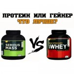 Что лучше для набора мышечной массы: протеин или гейнер?