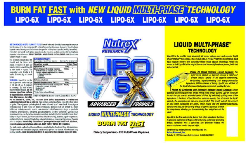 Состав жиросжигателя Nutrex Lipo-6x