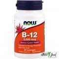 NOW B-12 5000 мкг + Folic Acid - 60 таблеток