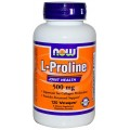 NOW L-Proline 500mg - 120 капсул