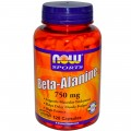 NOW Beta-Alanine (750мг) 120 капс.