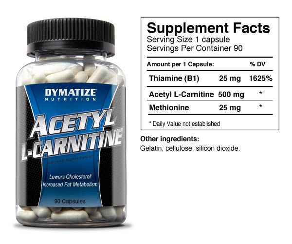 Dymatize Acetyl L-Carnitine 500 mg - 90 капсул